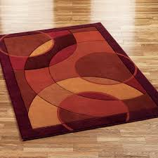 red contemporary area rug