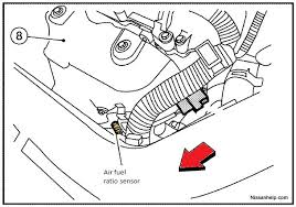 nissan altima engine air fuel ratio and o 2007 2012 nissan altima 2 5 engine air fuel ratio and o2 sensor location
