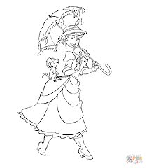 Small Picture Fancy Nancy with Umbrella coloring page Free Printable Coloring