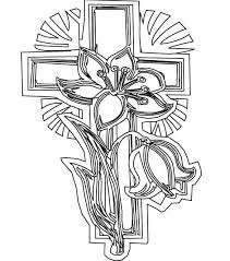 Cross Coloring Pages Elegant Cross To Color Printable Cross Coloring