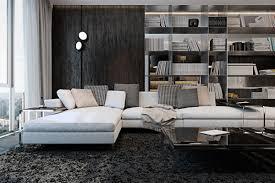 Dark Furniture Interior Design Three Luxurious Apartments With Dark Modern Interiors