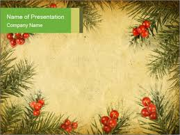 Vintage Christmas Card Powerpoint Template Backgrounds Google