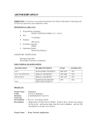 57 Great Mechanical Fresher Resume Samples Template Free