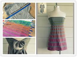 how to make striped strapless no sew t shirt diy tutorial