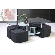 coffee table with 4 stools best quality furniture glass top coffee table with 4 nesting stools