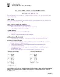 Igs Course Outline Template