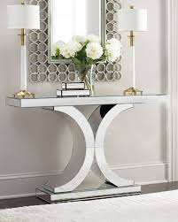 hall table and mirror. Splendora Mirrored Console Hall Table And Mirror
