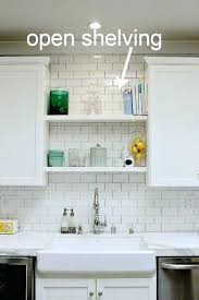shelf above kitchen sink also remodel before and after glass throughout shelves decor 17