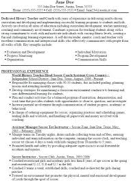 coaching resume example soccer coaching resume foodcity me