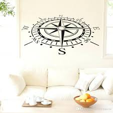 ocean wall stick ons ocean navigation compass wall decals removable vinyl art stickers home decor living ocean wall
