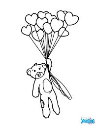 Coloriages Nounours Avec Ballons En Coeur Fr Hellokids Com