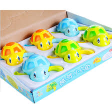 6pcs kids bath toys swimming turtles bathtub toys floating bath toy color random com