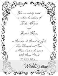 5x7 border template ornate victorian invite with white on black border wedding