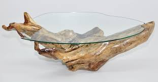 tree trunk coffee table glass top for small living room ideas