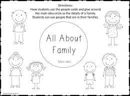 Kindergarten Worksheets For Kindergarten On My Family | Worksheet ...