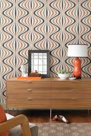 Wallpaper Living Room Feature Wall Hendrix Orange Gravure Ogee Wallpaper On Hautelook Near Future