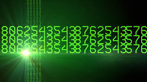 Rotating Numbers Green Horizontal Rotating Numbers Motion Background Storyblocks Video