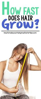 Hair Growth Length Chart How Fast Does Hair Grow How To Make Your Hair Grow Faster