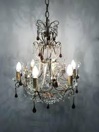 crystal beaded chandelier vintage crystal beaded chandelier with glass pendant drops french crystal beaded chandelier