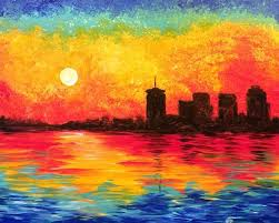 this impressionist painting of the tulsa skyline was inspired by claude monet s