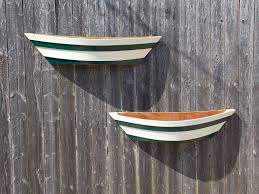 new green flower planter boxes boat by cheeseheadtreasures