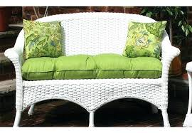 loveseats loveseat cushion outdoor fabric wicker bench