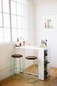 Kitchens For Small Flats For A Small Studio Add A Mobile Bar For Eating And Added Counter
