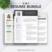 Best Selling Resume Bundle The Austin Rb Cv Bundle Cover Letter