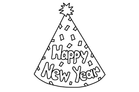Small Picture happy new year hat coloring pages happy new year hat coloring