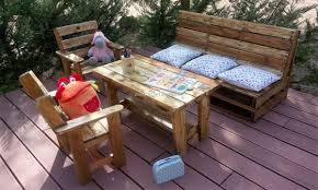 patio furniture with pallets. wood pallets kids patio furniture with