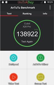 <b>Cubot X20 Pro</b> Antutu benchmark score