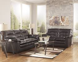 Durablend Knox Coffee Leather Loveseat by Ashley Furniture