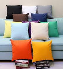 Plain Canvas Throw Pillow Covers