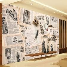 modern office wallpaper hd. European Wall Mural Vintage Photo Wallpaper Custom 3d Newspaper Bedroom Living Room Office Hotel Modern Decor Interior Design Hd N