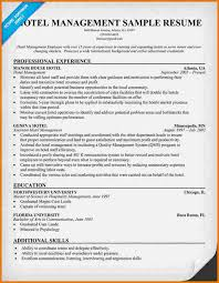 resume for hotel management   proposaltemplates infoproject manager resume sample   resume companion