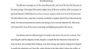 tim burton essay google docs