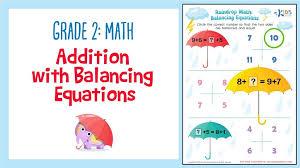 Grade Addition Worksheet: Balancing Equations | 2nd Grade Math ...
