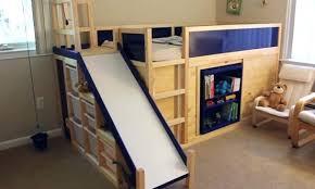 bunk bed with slide and desk. Bunk Bed Slides Collection In With Slide And Desk Beds Plans Guide W