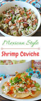 shrimp ceviche made with shrimp lime juice avocado jalapeño cilantro and finished