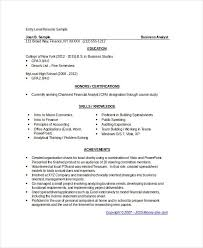 Business Analyst Resume Sample Stunning Business Analyst Resume Samples New Entry Level Business Analyst