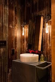 interior industrial lighting vanity vessel. rust walls bathroom industrial with vanity white vessel sinks interior lighting a
