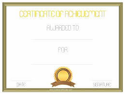 Achievement Certificate Free Customizable Certificate Of Achievement