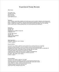 Nanny Resume Sample Impressive 60 Nanny Resume Templates PDF DOC Free Premium Templates