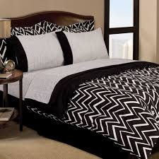 black and white bedroom comforter sets twin retro zigzag dorm teen sheets bedding 11