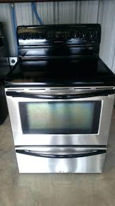 black white smooth top range stove oven kenmore flat parts used