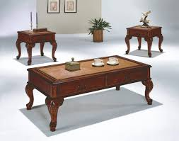 end table sets. Coffee Table With Drawers Set 2 End Tables Cabriole Legs Old World Style Traditional Cherry Sets