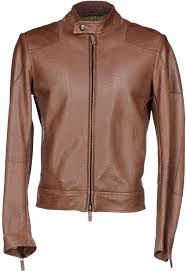 jackets brown leather er jacket by giorgio armani