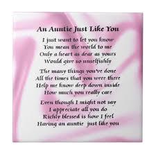 Favorite Aunt Poems