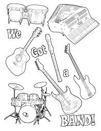 Music Themed Coloring Pages Free Music Coloring Pages Printable