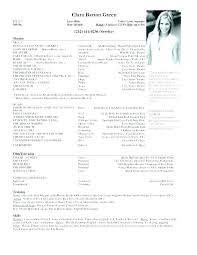 Theatre Resume Template Theatre Resume Template Visit To Reads
